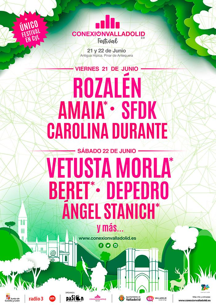 Cartel por días de Conexión Valladolid Festival 2019