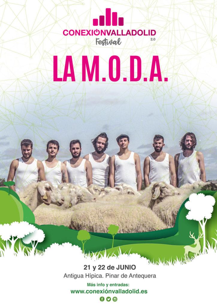 Cartel de La MODA en Conexión Valladolid Festival