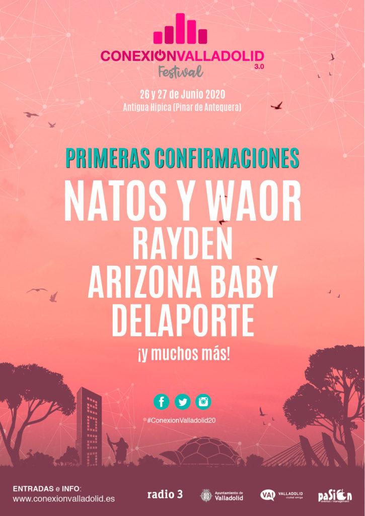 Cartel primeras confirmaciones Conexión Valladolid Festival 2020