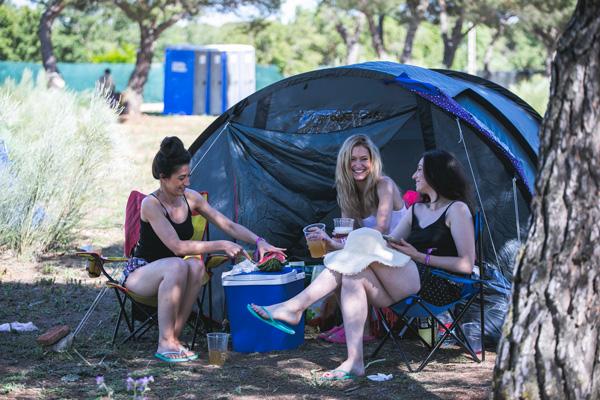Zona de acampada Conexión Valladolid Festival 2020